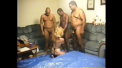 cuckolds wife slicked up and black fucked