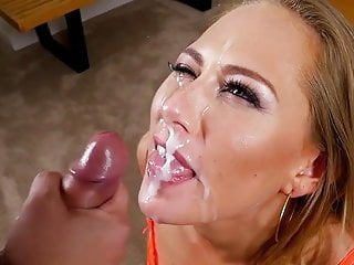 Carter Cruise Does Blow Job & Cum Swallow With Slow Motion