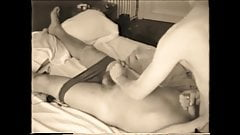 Blowjob and handjob, when the younger guy wakes up...
