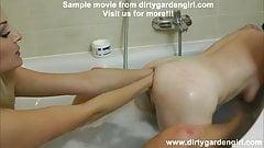 Dirtygardengirl & Kinkynikky double anal fisting & prolapse