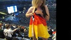 Girls sexy german flag