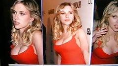Cum on Scarlett Johansson