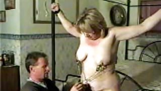 Holly BBW MILF Wife Complains While Tied