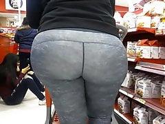 Wide Bbw Booty Milf in Target