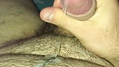 SOLO MALE Jerking off and cum in myself