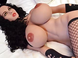 Busty brunette sex doll, blowjob anal deepthroat fantasies
