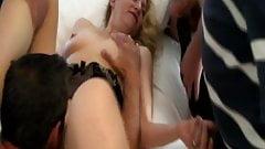 Slut wife gangbang creampie