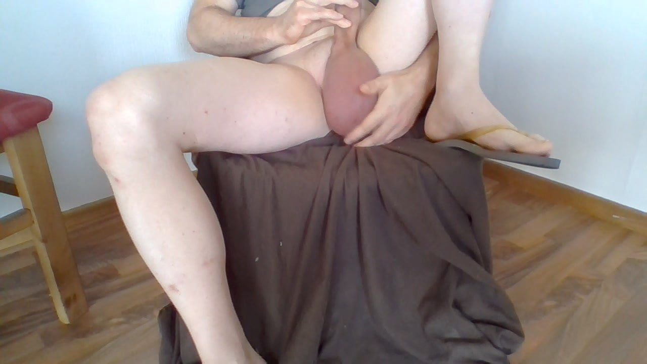 Penis and ball pumping