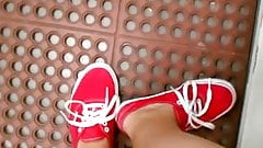 FF24 Sweaty feet in red vans