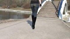 walking in ballet heels