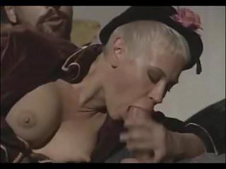 Hot short hair blonde Olga gets wet pussy fucked