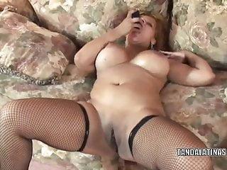 Latina wife Angel Lynn makes herself cum with a dildo