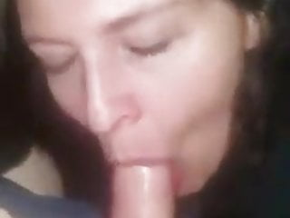 Hot wife with beautiful eyes swallows huge cum load