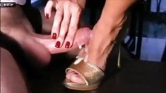Cumshot on feet compilation