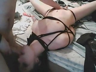 Wife in tied up and brutally fucked by hubby BDSM