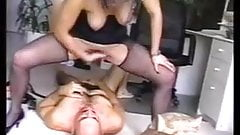 femdom squirts in slave face