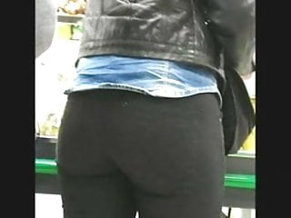 Great ass candid in shop, in jeans tight ass part2
