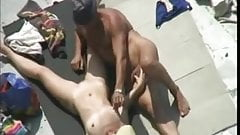 Nude Beach - Mature Play & Fuck on the Rocks