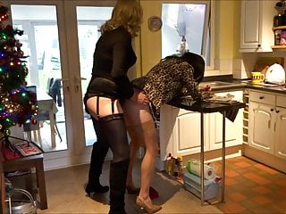 Alison and Zara - Anal action - Real life crossdressers