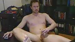 hot aussie guy wanking in office