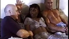 Hot Ebony Milf Gets Double Teamed By White Cock