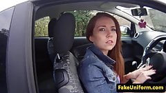 British redhead plowed outdoors by the police