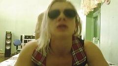 sunglasses blonde fucks doggy