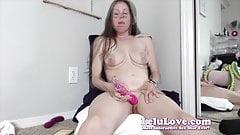 Lelu Love-WEBCAM: Oiling Legs Then Vibrator Masturbation