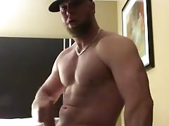 Bearded Muscle Stud Jerking His Fat Cock ( No Cum )