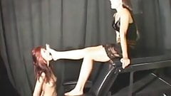 lesbian foot slave used by goddess