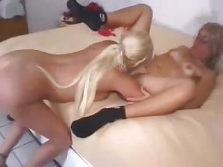 Wives and girlfriends having lesbian experience
