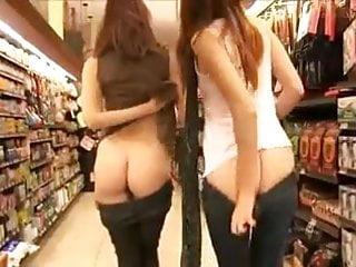 Girls Flashing In Store
