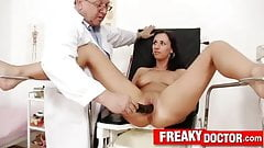 Czech brunette babe Terra Sweet pussy pump therapy at