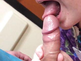Nurse sucks my cock on her break