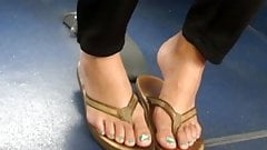 What anal college girls in flip flops
