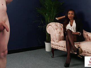 Black british voyeur instructing sub to jerk