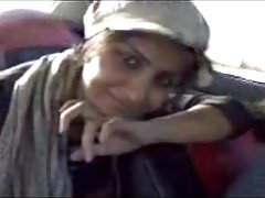 Iran Lovely Teen Iranian Girl Shows Off Sexy Boobs in Car MA