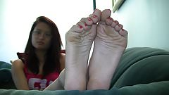 Nina's candid stinky soles