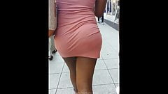 Sexy Sista Tight Pink Dress Big Arse Ass Booty Candid's Thumb