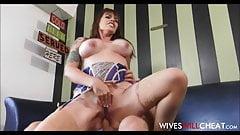 Big Tits Tattooed Bartender Cheats On Husband With Customer