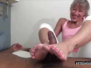 Paint my toes with your cum