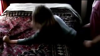 GF Gets Fucked On Bed From Behind (Moans Like Crazy)