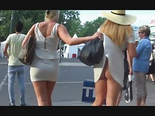 Girl reveal friends ass in thong