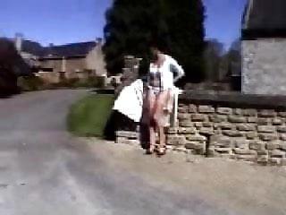 Nadine France Flashing In Village