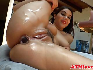 Gorgeous milf plays with a huge buttplug
