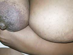 Cum Shot On Ebony Boobs