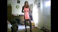 crossdresser in pink