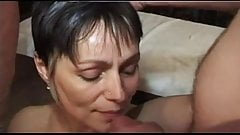 FRENCH CASTING n47 2 anal matures milfs in gang bang