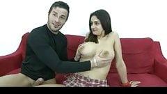 Busty Sandra Gets a Nice Cumshot by TROC