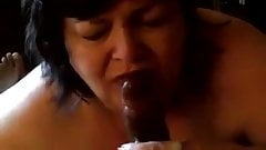mother milking and licking the bottom